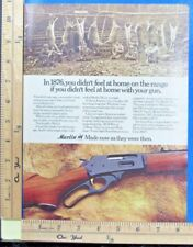 1973 MARLIN Model 336 lever rifle 1876 Deer Camp photo Vintage Print Ad 9443