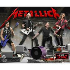 METALLICA Band Rock Iconz 1/9 Statue in Resina Bundle (Set of 4) by KNUCKLEBONZ