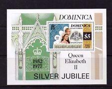 Dominica 1977 Silver Jubilee mini sheet MNH set