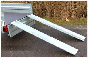 1 Paar Rampen bis 650 kg Auffahrrampe Auffahrschiene für Pkw-Anhänger RESTPOSTEN
