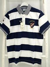 Tom Tailor Polo Team Herren Polo-Shirt Hemd Kurzam blau/weiß Gr.L