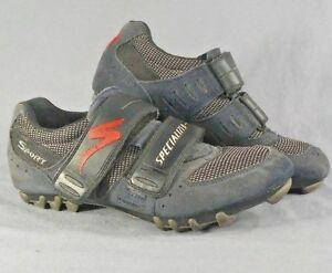 Specialized Cycling Suede Sport Shoes Mens Blue Sz 39 US 7 with Shimano cleats