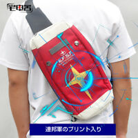 GUNDAM Red Backpack Shoulder Bag Single Bag Travel Outdoor Bag Messenger Bag
