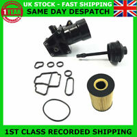 OIL FILTER HOUSING FILTER CAP & GASKET FIT VW 1.6 2.0 TDI 03L115389C, 03L117021C