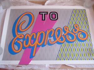 """Ben Eine """"To Express""""  Art Print (Silver version)"""