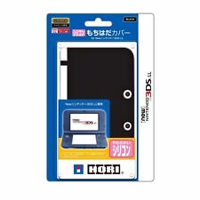 HORI Silicone (mochihada) Cover for Nintendo New 3DS LL Black from Japan