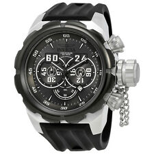 Invicta Russian Diver Chronograph Grey Dial Black Silicone Mens Watch 21629