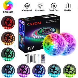 RGB LED Strip Lights 1-10M 5050 Under Cabinet Kitchen Lights IP65 12V RGB Strip