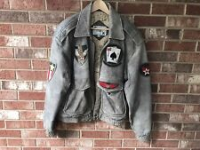 Phase 2 Vintage 40s WW2 Flyers Pilot Aviator Brown Leather Jacket US Navy RARE