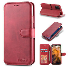 Luxury Case Leather Wallet Flip Retro Cover For iPhone 12 Pro Max 11 Pro 11