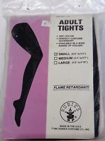 Size Small Black Opaque Women's Nylon Tights Rubies Dance Costumes Halloween
