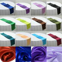 """Satin Table Runner Wedding Party Event Banquet Decoration Tablecloth 12""""x108"""""""