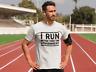 I Run Better Than The Government Black Logo T-Shirt Funny Political Mens White