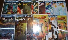 Batman Flash 21 22 Button Complete Set 14 Covers Lenticular + Variants DC Comics