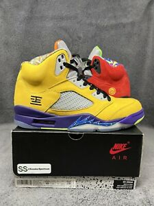 NEW Air Jordan 5 Retro What The Red Yellow 2020 CZ5725-700 Men's Size 10