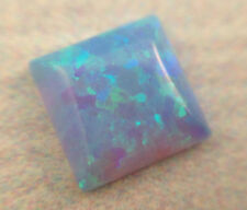 10X10MM Square cabochon light blue opal, 10pcs, October birthstone, for earrings