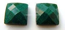 STRASS Quadrati quadrato 12pz Verde scuro marmo 7mm cabochon Termoadesivi hotfix