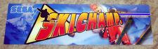 Sega SKI CHAMP Marquee For Arcade Game Original On Thick Plastic Very Good Cond