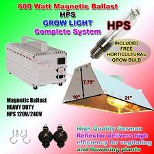 600 w Watt HPS Hydroponic Plant Grow Light Kit Set