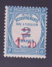 """FRANCE TAXE 64 """" 1F20 S. 2F BLEU """" NEUF xx TTB"""