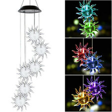 NEW Solar Powered Wind Chimes Color Changing Led Light Outdoor Garden Decor