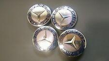 4 Stück Mercedes Deckel Nabenabdeckung Nabendeckel Lorbeerkranz Dunkel Blau 75mm