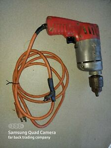 Vintage Milwaukee Electric Corded Drill 3/8 Chuck