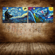 Not Frame Canvas Prints Home Decor Wall Art Batman Starry Night Vincent van Gogh
