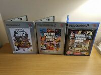 PLAYSTATION 2 - GRAND THEFT AUTO GAME  BUNDLE - 3, SAN ANDREAS, VICE CITY