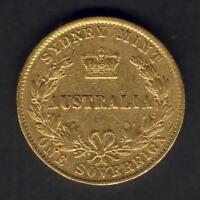 Australia.  1867 Sydney Mint -  Sovereign..  Trace Lustre.. F/Fine+