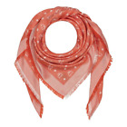 420 MCM Orange Monogram Silk and Wool Jacquard Scarf Shawl MEF9SMM01OR001