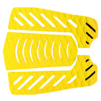 3pcs Yellow Surfboard Skimboard Traction Pad Tail Pad Deck Grip Accessories