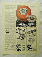 1949 Magazine Ad Page Purity Cheese May-Bud Couda Cheese Marcal Waxed Paper