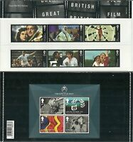 GB Presentation Pack 498 2014 BRITISH FILMS & MINIATURE SHEET
