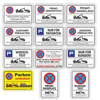 Parken verboten Schild Parkverbot Parkplatz Hinweisschild Parkverbotsschild 3mm