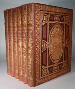 1880 Series of Picturesque Views of Seats of Noblemen 240 Colour Plates 6 Vols
