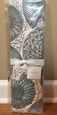 "NEW Pottery Barn Coral Shell Table Runner 18"" x 108"" AQUA BLUE"
