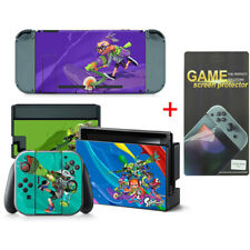 Splatoon Vinyl Cover Skin Stickers for Nintendo Switch with Screen Protector