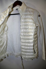 MONCLER Maglia Flutter Hem Mixed Media Down Jacket Size M  RETAIL $665
