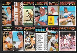 1971 OPC 71 O PEE CHEE TOPPS MLB BASEBALL CARD 393-665 SEE LIST