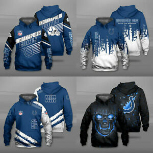Indianapolis Colts Men Hoodie Sweatshirt Pullover Casual Hooded Jacket Tops Gift