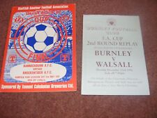 1996 Burnley v Walsall FA cup 4 page