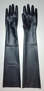 Lange Latexhandschuhe oberarmlang schwarz Größe L