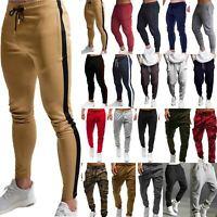 Men Slim Fit Tracksuit Bottoms Jogging Joggers Casual Sport Sweat Pants Trousers