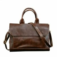 Retro Men's Briefcase Leather Laptop Handbag Business Messenger Shoulder Bags