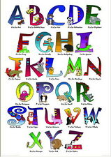 ANIMAUX Forme Alphabet Affiche 61cmx91.4cm MAXI taille