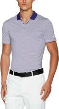 Nike Golf Men's Dri-Fit Victory MiniStripe Polo Shirt Purple/White Small