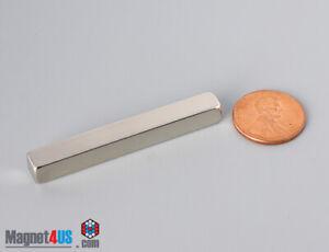"50.8x 6.3x 6.3mm 2"" X1/4""X1/4"" Thick N45/N52 Rare Earth Neodymium Block Magnets"