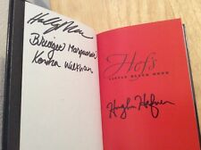 RARE SIGNED by 4 Hugh M Hefner Hef's Little Black Book HC 1st/1st + Pic Playboy