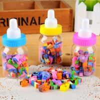 28 Piece/Set Lovely Stationery Milk Bottle Eraser School Supplies Kids Gift